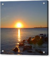 Sunset At Cape May Beach Acrylic Print