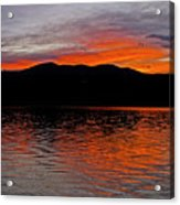 Sunset At Carter Lake Co Acrylic Print by James Steele