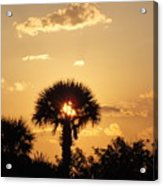 Sunset At Clearwater Beach Acrylic Print