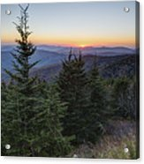 Sunset At Clingmans Dome Acrylic Print