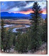 Sunset At Columbia Wetlands Acrylic Print