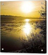 Sunset At Cook Inlet - Alaska Acrylic Print