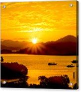 Sunset At Coron Bay Acrylic Print