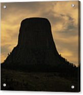Sunset At Devils Tower Acrylic Print