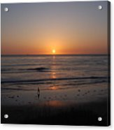 Sunset At Eljio Beach California Acrylic Print