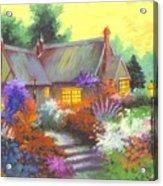 Sunset At Farm House Acrylic Print