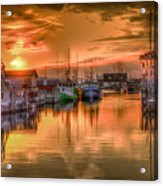 Sunset At Fisherman's Cove Acrylic Print