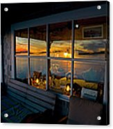 Sunset At Fletchers Camp Acrylic Print by Charles Harden
