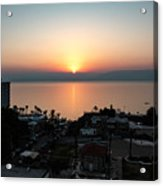 Sunset At Galilee Acrylic Print