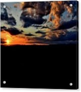 Sunset At Glassy Acrylic Print