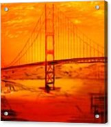 Sunset At Golden Gate Acrylic Print