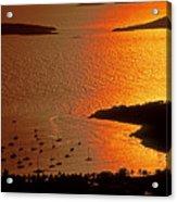Sunset At Great Cruz On St. John Acrylic Print