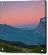 Sunset High Above Grindelwald Acrylic Print