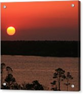 Sunset At Gulfshores Acrylic Print