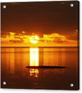 Sunset At Horseshoe Beach - Debbie-may Acrylic Print