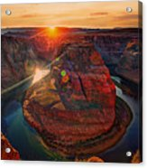 Sunset At Horseshoe Bend Acrylic Print
