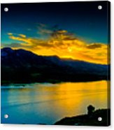 Sunset At Horsetooth Reservoir Acrylic Print by Harry Strharsky