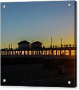 Sunset At Huntington Beach Acrylic Print