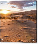 Sunset At Kelso Dunes Acrylic Print