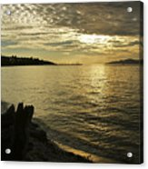 Sunset At Kitsilano Acrylic Print by Tom Buchanan