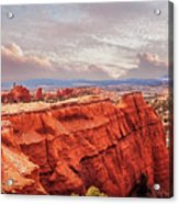 Sunset At Kodachrome Basin State Park Panorama Acrylic Print