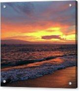 Sunset At Lahaina On Maui, Hawaii Acrylic Print