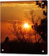Sunset At Lake Michigan Acrylic Print