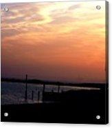 Sunset At Lordship Beach Acrylic Print
