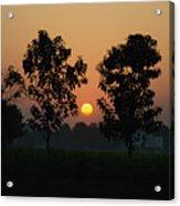 Sunset At Lumbini Acrylic Print