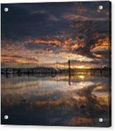 Sunset At Marina In Anacortes In Washington Acrylic Print