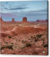 Sunset At Monument Valley No.2 Acrylic Print