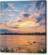 Sunset At Morse Lake Acrylic Print