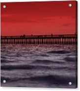 Sunset At Naples Pier Acrylic Print by Melanie Viola