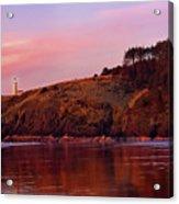 Sunset At North Head Lighthouse Acrylic Print