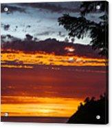 Sunset At Oswald West Acrylic Print
