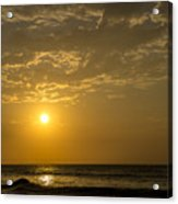 Sunset At Pacasmayo Beach 2 Acrylic Print