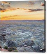 Sunset At Painted Desert Acrylic Print