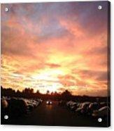 Sunset At Parking Lot Acrylic Print
