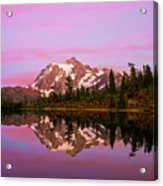 Sunset At Picture Lake Acrylic Print