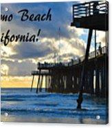 Sunset At Pismo Beach California Acrylic Print