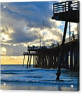Sunset At Pismo Pier Acrylic Print