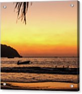 Sunset At Playa La Ropa Acrylic Print