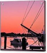 Sunset At Port Acrylic Print