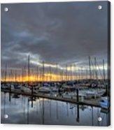 Sunset At Port Gardner Acrylic Print