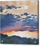 Sunset At Quialigo Acrylic Print