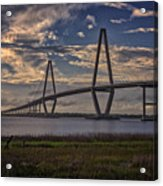 Sunset At Ravenel Bridge Acrylic Print