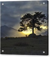 Sunset At Rocky Mountain Park Co Acrylic Print