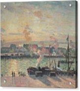 Sunset At Rouen Acrylic Print