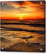 Sunset At Saint Petersburg Beach Acrylic Print