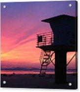 Sunset At San Elijo Acrylic Print